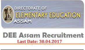 DEE Assam Recruitment 2017 Apply Online, 6027 LP UP Teacher Vacancy Application Form @www.deeassam.gov.in, DEE Assam Asst Teacher Vacancy 2017