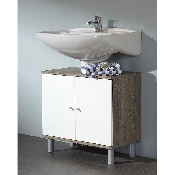 Bathroom Under Sink Cabinet Vanity Base Storage Shelves Double Door Cupboard