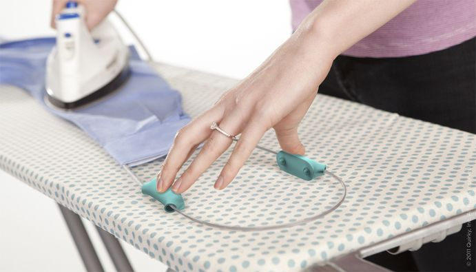 I SO want one of these for ironing! Holds your sleeve or pant leg tight and straight while you iron it!