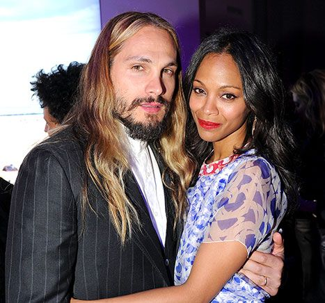 Hot couple! Zoe Saldana and her hubby Marco Perego made their first official public appearance in NYC since getting married last June
