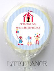 Retro Circus Party Favours Personalised Lollipops.