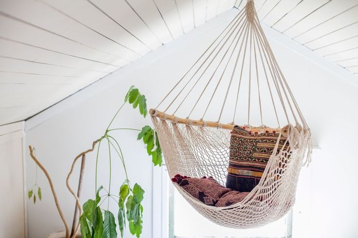 in all of our searching for amazing textiles for our pillows, searching for inspiration, and for things we love, we have gathered some of our favorites that we want to share!  love of hand work. this hammock swing is woven from cotton rope, supported by a carved pine branch.  such a gorgeous addition to any room, inside or out.  seats one person.  hook not included.  (exterior placement will cause age and wear according to weather).all gathered goods are packed and shipped f...