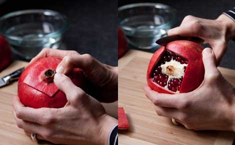 How to prep #Pomegranates