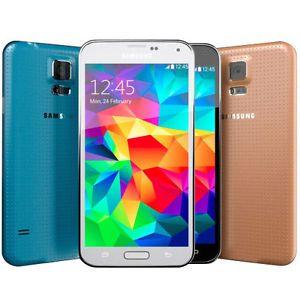 Samsung Galaxy S5 SM-G900A (4G FACTORY UNLOCKED) Black White Gold (C)