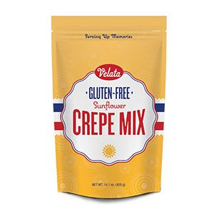 Gluten-Free Sunflower Crepe Mix -   So much more than just gluten free! Our delicious crepe mix is made with sunflower flour, which contains two grams of fiber and four grams of protein per serving. So it's ideal for adding a healthy kick to your everyday diet, even for those who don't usually seek out gluten-free foods.