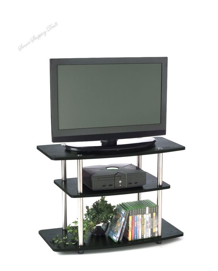 3-Tier TV Stand For Flat Panel Television Up to 32-Inch or 80-Pound, Furniture  #ConvenienceConcepts