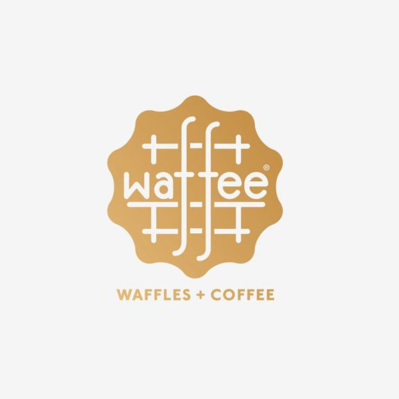 Logo designed by A Friend Of Mine for Belgian waffle and coffee chain Waffee