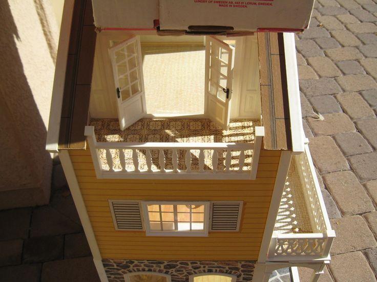 Vintage Lundby Stockholm Dollhouse & Extension & Boxes 1:16 Scale