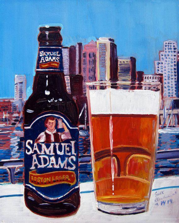 Beer Art Print of Samuel Adams Boston Lager por RealArtIsBetter