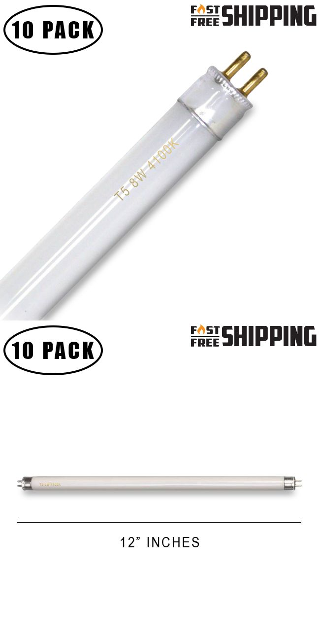 Light Bulbs 20706 10 Pack F8t5 Cw 8 Watt 12 T5 Linear Fluorescent Light Bulb 41k 8w 4100k Buy It Now Only 13 99 Fluorescent Light Bulb Light Bulb Bulb