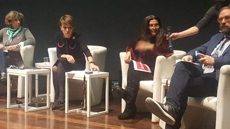 Carmen Romero en Roma presentando la Fundacion Teatro a Mil. MAXXI 50iila.