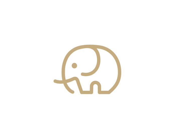 Minimalist Elephant Logo - this would make a gr8 simple tattoo