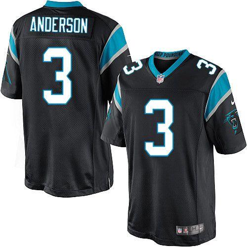 $24.99 Nike Limited Derek Anderson Black Men's Jersey - Carolina Panthers #3 NFL Home