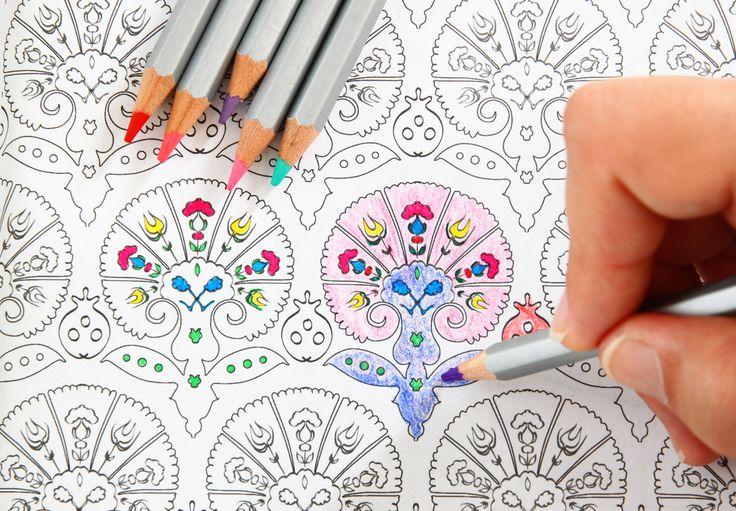 Kolorowanki dla dorosłych świetny sposób na stres, dowiedz się dlaczego. #kolorwankidladorosłych