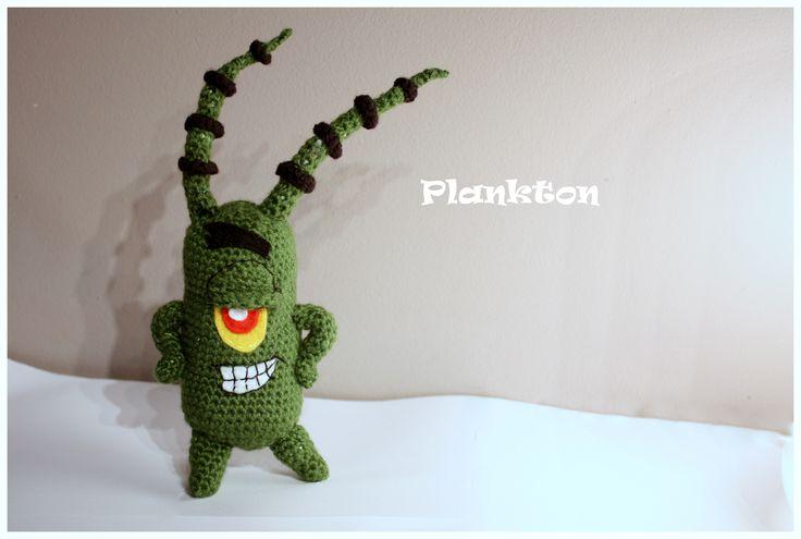 Amigurumi plankton #amigurumi #amigurumis #plankton #spongebob #brelok #szydełkowy #rękodzieło #cartoon #crochet
