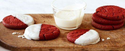 Red and White Velvet Cookies