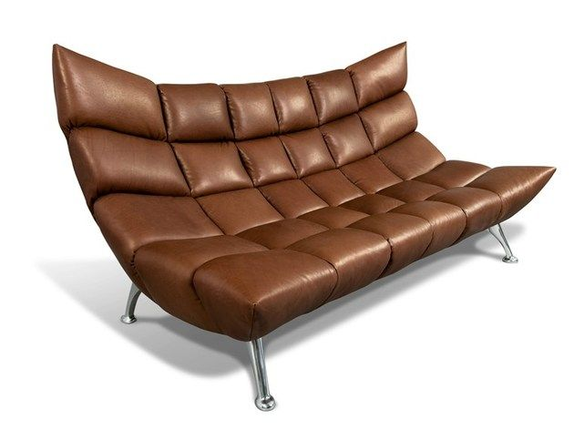 Originality And Avant Garde: The Hangout Sofa In Brown Leather