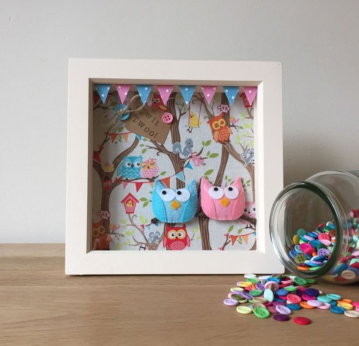 3D Owl Party Box Frame Picture - Personalised Gift in Home, Furniture & DIY, Home Decor, Photo & Picture Frames | eBay