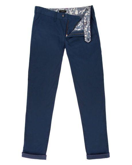 Slim fit chino - Dark Blue | Jeans & Pants | Ted Baker