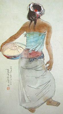 Lee Man Fong - Wanita Bali Membawa Baku