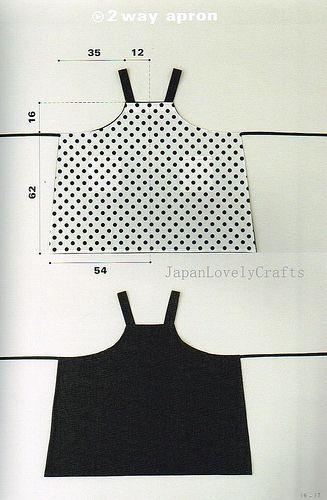 Apron & Apron Dress by Yoshiko Tsukiori - Straight Stitch Sewing - Japanese Pattern Book for Women Clothing - B1299-16 | Flickr - Photo Shar...