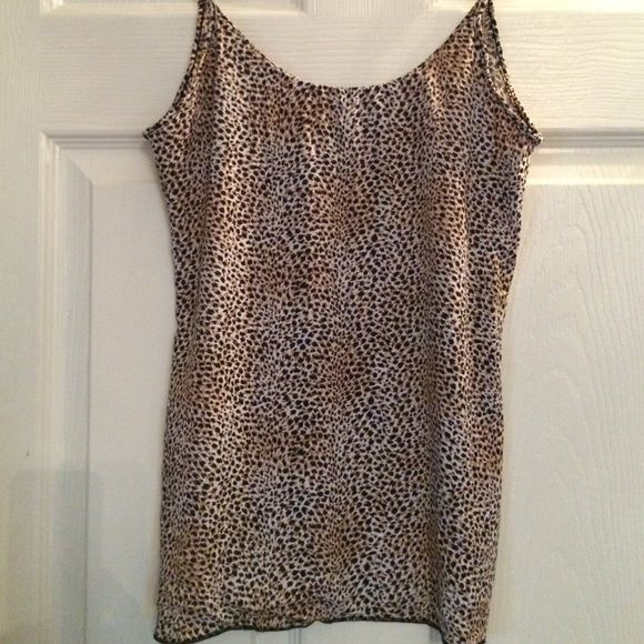 Animal Print Cami. Small Great statement piece alone or layered.  Small Tops Camisoles