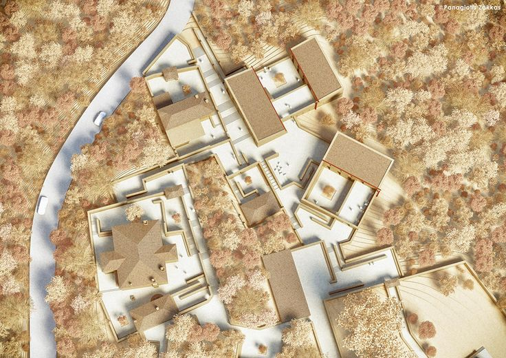 Centre of Historical Studies in Foiniki, Thesprotia, Greece, 3D Architectural Model - www.pzarch.gr