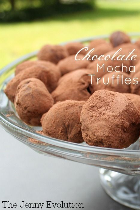 Chocolate Mocha Truffles Recipe   The Jenny Evolution