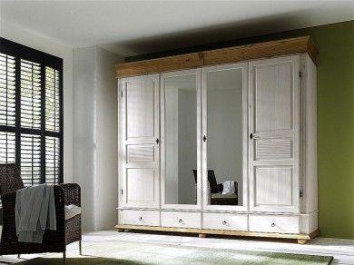 Stunning Kleiderschrank t rig wei antik Schlafzimmerschrank Kiefer massiv