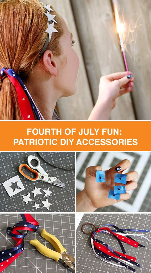 Show your American pride this 4th of July with DIY red, white and blue hair accessories. Our easy-to-follow tutorial will have you styling in no time.