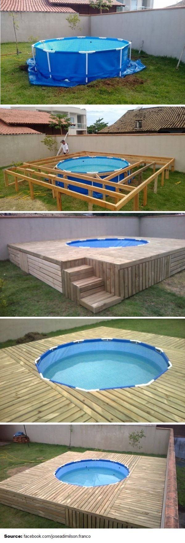 Budget friendly swimming pool deck by jos adimilson for Budget swimming pools