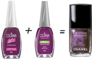 Misturinha para Chanel Ultyravioleta Colorama + Roxo Metalizado Colorama = Paradozal Chanel