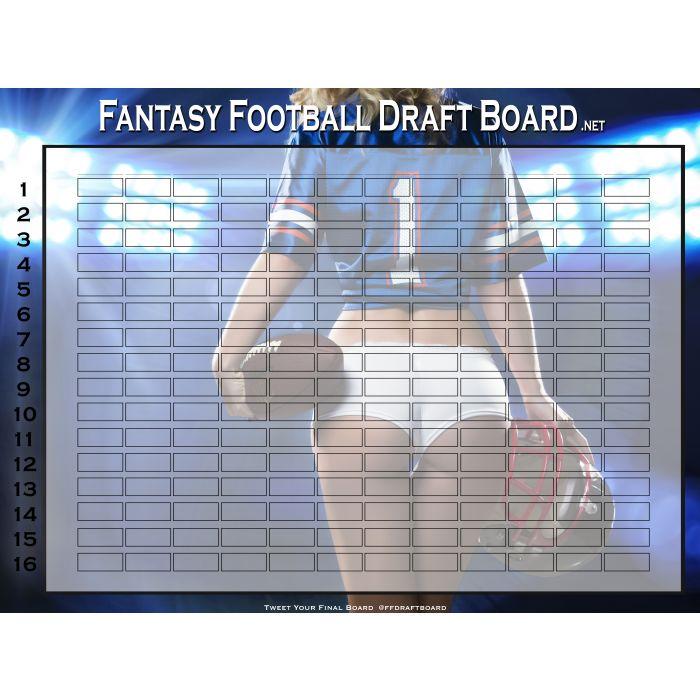 Premium Color Fantasy Football Draft Board | Hall of Fame Draft Kit