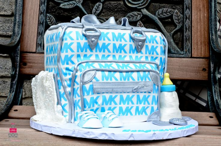 Michael Kors Diaper Bag Baby Shower Cake The Frosted