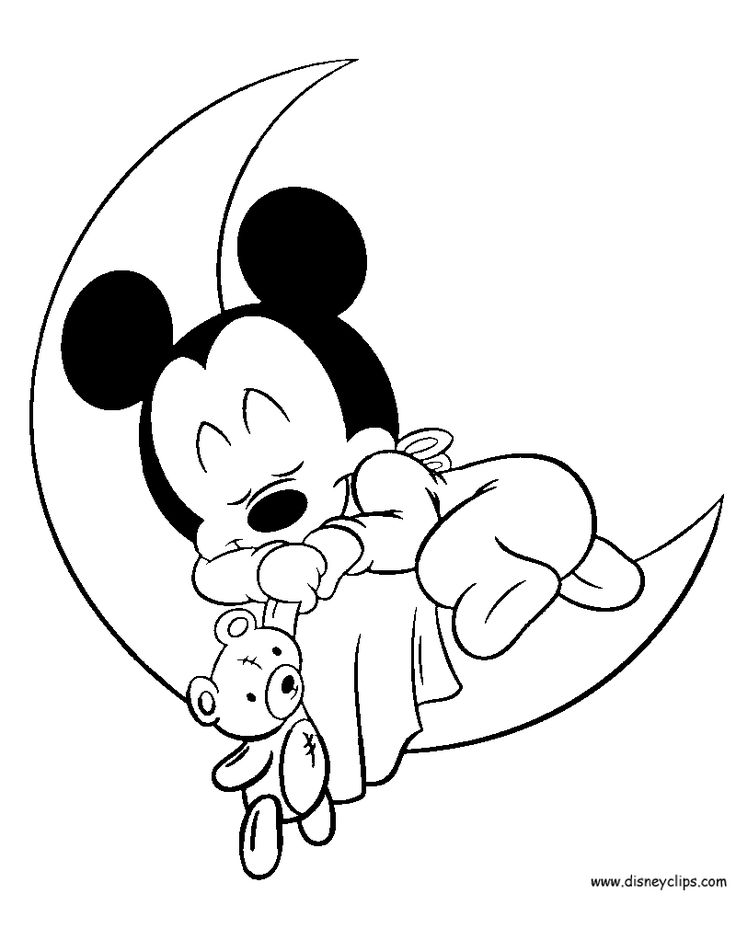 Printable Coloring Pages Of Disneys Baby Mickey