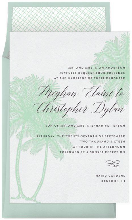 Palm Tree Trio by Signature Greenvelope | Greenvelope.com