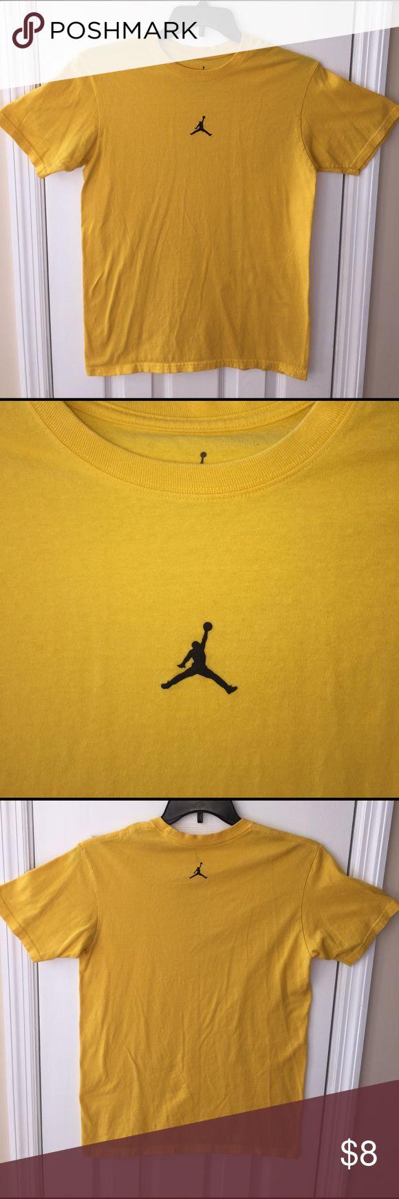Michael Jordan Logo T-Shirt Bright yellow used Michael Jordan T-Shirt. Sz Med. Non smoking and pet free home Shirts Tees - Short Sleeve