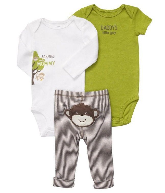 7sets/lot, Carter's Baby Boys Monkey 3 Pieces Pull on Pant Set , Carters Boys Clothing Sets, freeshipping-in Clothing Sets from Apparel & Accessories on Aliexpress.com