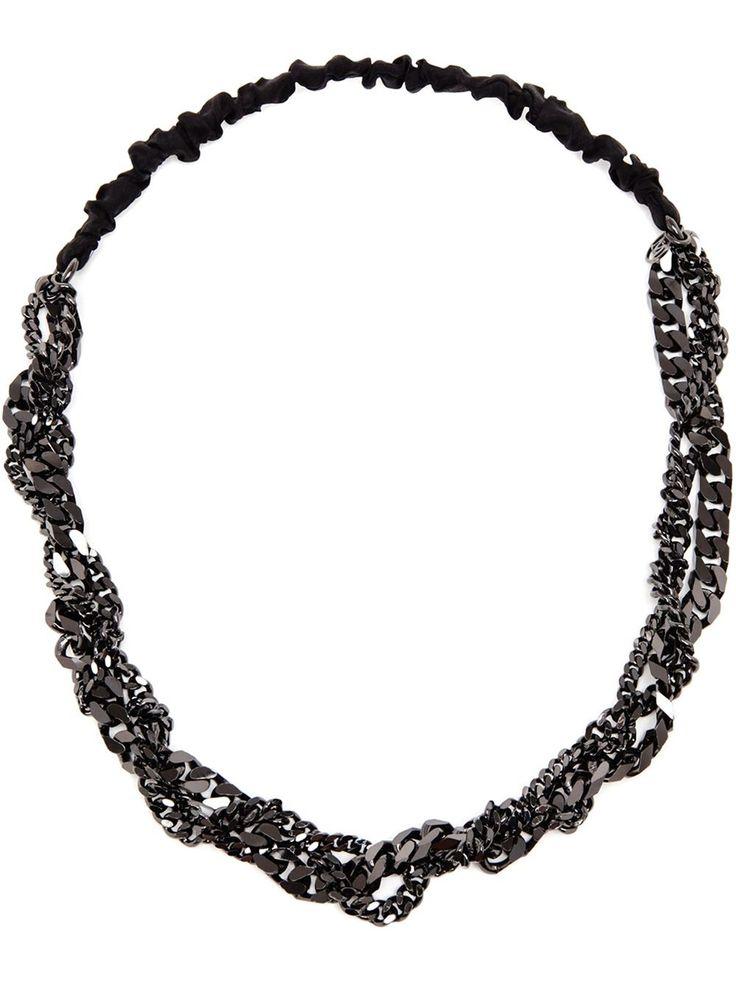 polka dot and chain headband - Black Maison Michel 5SpckwdFH