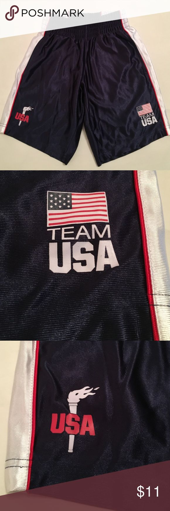 US Olympic Committee Team Apparel Shorts US Olympic Committee TEAM Apparel boys shorts size S (6/7), 100% polyester, lightly worn, good condition Team Apparel  Bottoms Shorts