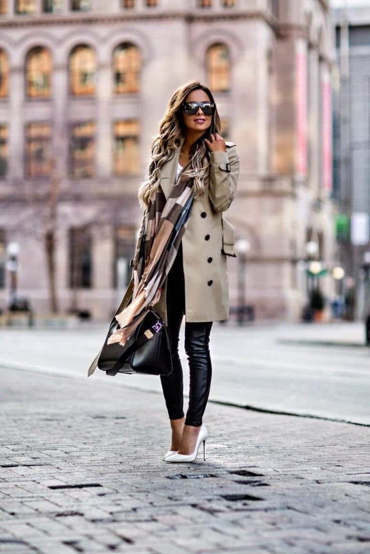 fashion blogger mia mia mine wearing a burberry trench coat and christian louboutin so kate heels