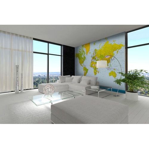 Found it at Wayfair - Map of the World Wall Mural