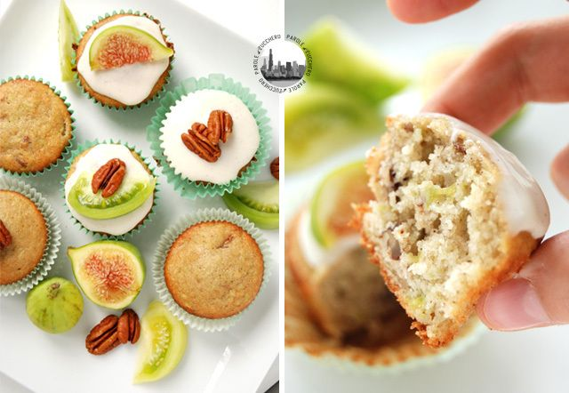 Green Tomatoes, figs and pecans cupcakes!