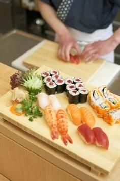 Though, both Japanese foods sushi and sashimi are similar, they are not the same. Technically, sushi means vinegar rice. The Japanese word 'su' means vinegar and 'shi' is from meshi, which is the Japanese word for rice. Thus, sushi is vinegared rice.