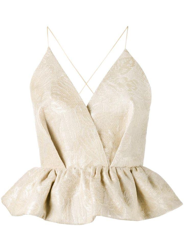 Delpozo блузка без рукавов с баской