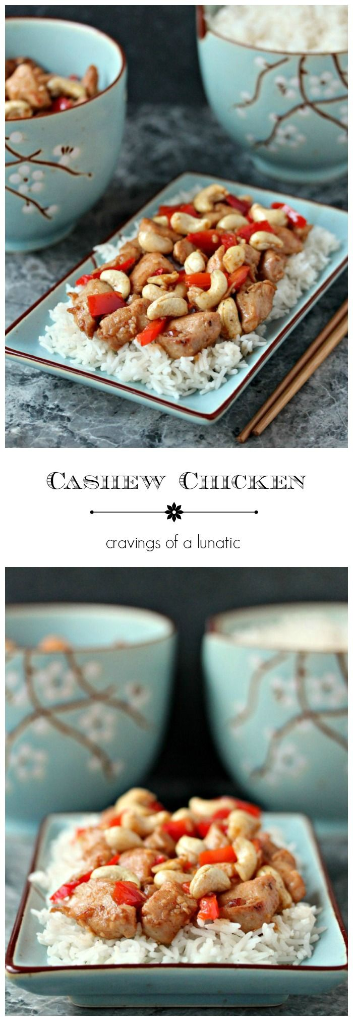 Creamy Cashew Chicken from cravingsofalunatic.com- This recipe is quick, easy and sure to be a hit with your family and friends. Enjoy! (@CravingsLunatic)