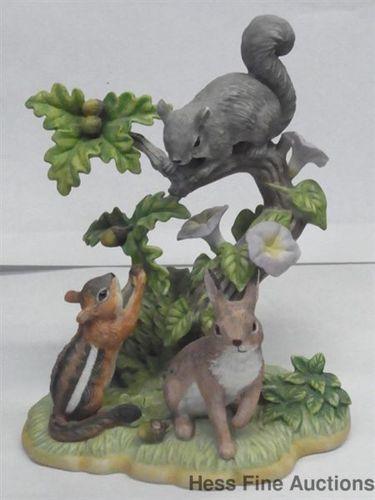 Lenox Fine Porcelain Forest Friends Figurine Bunny Chipmunk Squirrel Limited Edition