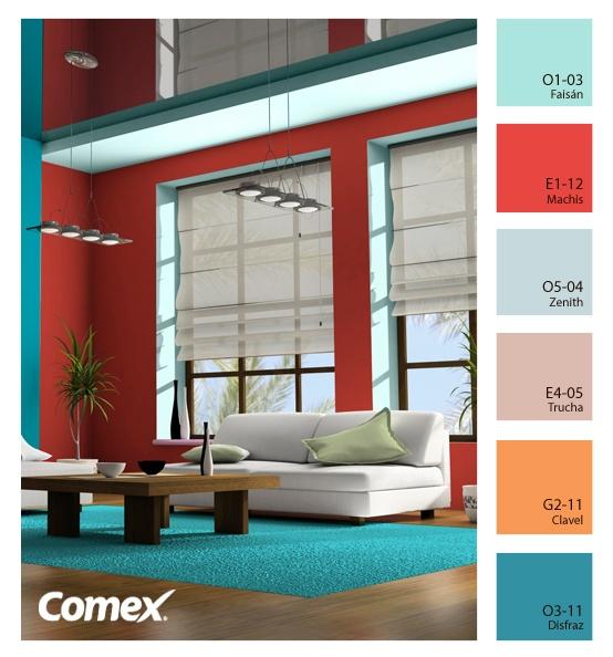 Comex / Colores radiantes para una estancia que despierta emociones.