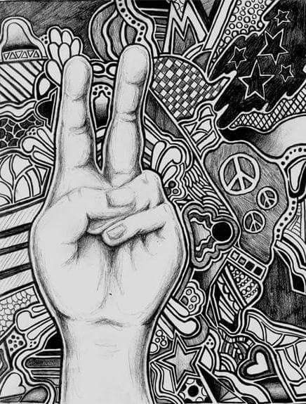 Peace Sign Art by Hanyou ☮️