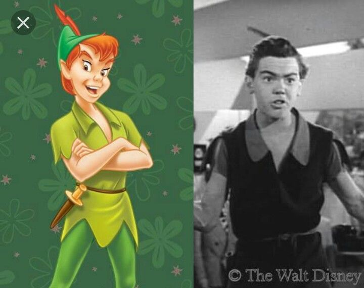Bobby Driscoll as Peter Pan.